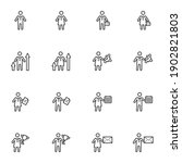 business people line icons set  ... | Shutterstock .eps vector #1902821803