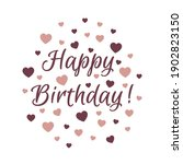 happy birthday lettering with...   Shutterstock .eps vector #1902823150