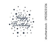happy birthday lettering with...   Shutterstock .eps vector #1902823156