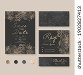 wedding invitation  save the... | Shutterstock .eps vector #1902827413