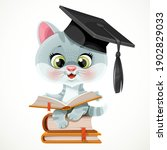 cute cartoon kitten wearing... | Shutterstock .eps vector #1902829033