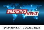 breaking news background  tv... | Shutterstock .eps vector #1902835036