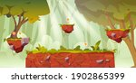 game platform cartoon forest...