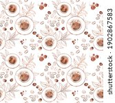 seamless pattern with top view... | Shutterstock . vector #1902867583
