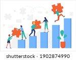 business people climbing up...   Shutterstock .eps vector #1902874990