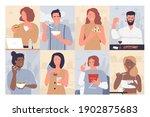 people eat food vector... | Shutterstock .eps vector #1902875683