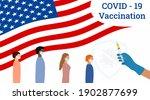 usa flag background.covid 19... | Shutterstock .eps vector #1902877699