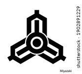coat of arms of miyazaki is a... | Shutterstock .eps vector #1902891229