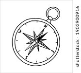outline image of a compass.... | Shutterstock .eps vector #1902900916