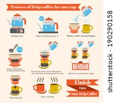 process of drip coffee  vector... | Shutterstock .eps vector #190290158