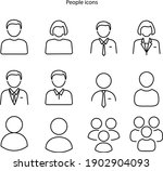set of different people icons ... | Shutterstock .eps vector #1902904093