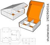 cardboard box for sending mail. ... | Shutterstock .eps vector #1902904516