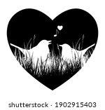 vector love birds in heart... | Shutterstock .eps vector #1902915403