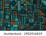 hand drawn seamless african... | Shutterstock .eps vector #1902916819