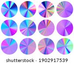 holographic concentric metallic ... | Shutterstock .eps vector #1902917539