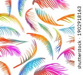 multicolored palm leaves.... | Shutterstock .eps vector #1902918163