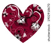 red heart  inside are drawn... | Shutterstock .eps vector #1902918670