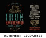 font iron brotherhood. craft... | Shutterstock .eps vector #1902925693
