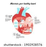 healthy heart. infographic...   Shutterstock .eps vector #1902928576