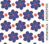 seamless flower pattern. vector ... | Shutterstock .eps vector #1902929500