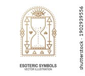 esoteric symbols. vector. thin...   Shutterstock .eps vector #1902939556
