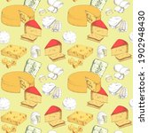 Seamless Pattern With Cheese...