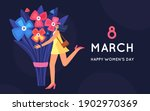 8 march. international women's... | Shutterstock .eps vector #1902970369