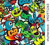 abstract seamless cartoon... | Shutterstock .eps vector #1902971263