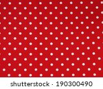 Seamless White And Red Polka...