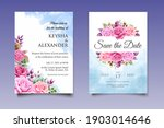 wedding invitation card with... | Shutterstock .eps vector #1903014646