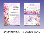 wedding invitation card with... | Shutterstock .eps vector #1903014649