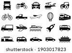 transport icons set ... | Shutterstock .eps vector #1903017823