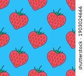 cute strawberry hearts seamless ...   Shutterstock .eps vector #1903024666