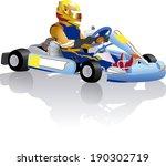 go cart carting racing race...   Shutterstock .eps vector #190302719
