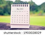 May 2021 White Calendar With...