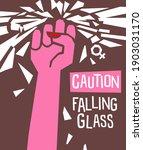 breaking the glass ceiling... | Shutterstock .eps vector #1903031170