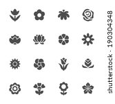 flower icon set | Shutterstock .eps vector #190304348