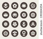 flower icon set | Shutterstock .eps vector #190304354