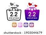 shopping bag 2.2 sale  handbag... | Shutterstock .eps vector #1903044679