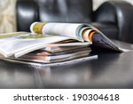 color magazines in leather... | Shutterstock . vector #190304618
