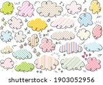 cute handwritten speech bubble...   Shutterstock .eps vector #1903052956