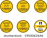 social distancing maximum... | Shutterstock .eps vector #1903062646