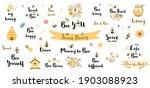 be happy quote. funny bee... | Shutterstock .eps vector #1903088923
