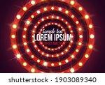 shining retro billboard.... | Shutterstock .eps vector #1903089340