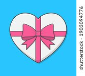 love heart gift box vector icon ... | Shutterstock .eps vector #1903094776