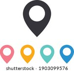 map pin icon  location icon in... | Shutterstock .eps vector #1903099576