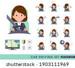a set of women driving a car... | Shutterstock .eps vector #1903111969