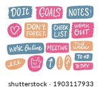 colorful stickers work phrases...   Shutterstock .eps vector #1903117933