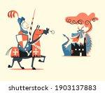 retro style cartoon vector... | Shutterstock .eps vector #1903137883