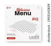 food menu banner social media... | Shutterstock .eps vector #1903142839